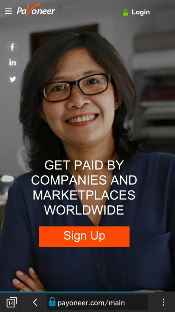 Payoneer Sign Up