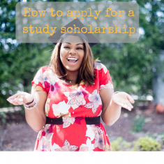 How to apply for a study scholarship